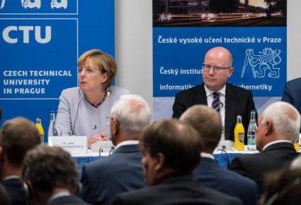 Angela Merkelová na ČVUT